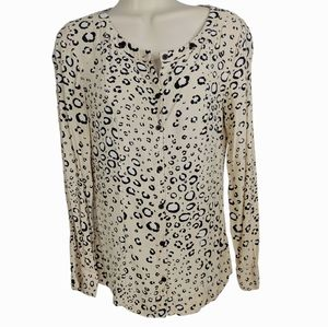 UO COOPERATIVE Animal Print Button Down Top S
